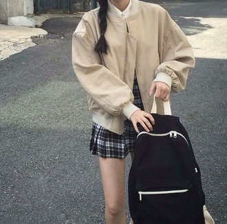 jacket korean fashion cream