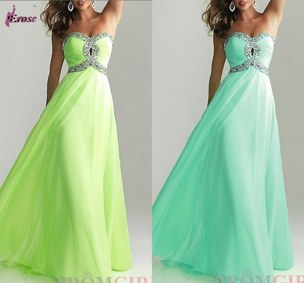 Latest Designs Prom Long Chiffon Cheap Evening Dress 2014 Lace up ...