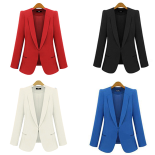 Free shipping 2014 autumn fashion female slim blazer,fashion small suit jacket autumn coat  plus size s m l xl xxl xxxl xxxxl