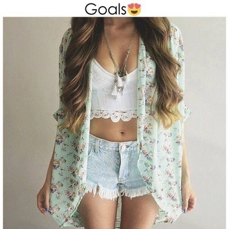 shorts cardigan crop tops shoes necklace
