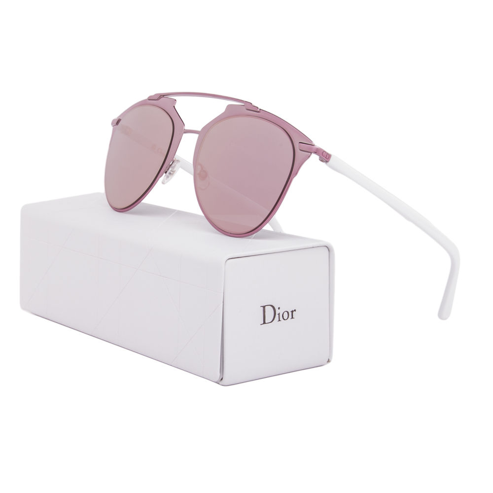 dior mirrored sunglasses silver christian dior reflected sunglasses m2q0j pink white frame mirrored lens