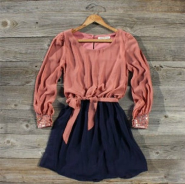 pink blouse navy skirt pink dress