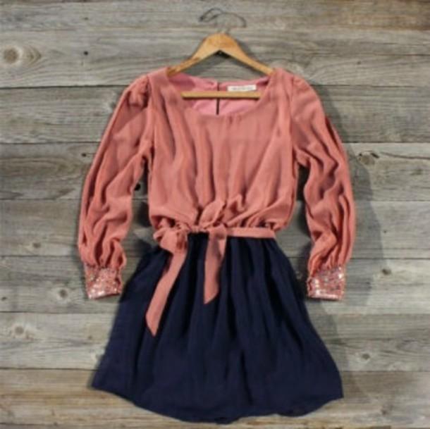 pink blouse navy skirt pink dress