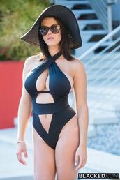 swimwear,black,cross wrap,monokini swimsuit,one piece swimsuit