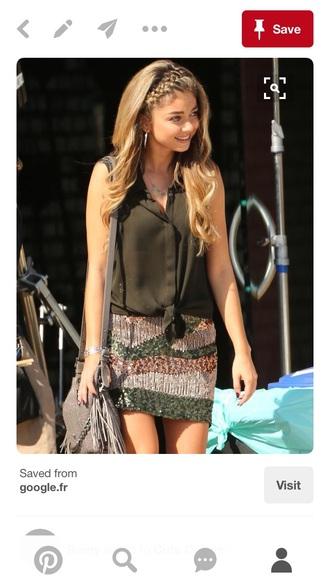 skirt sequin skirt mini skirt