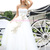 A-line Strapless Sweep Train Flowers Bead Tulle Prom Dresses 2014 - Gardeniasite