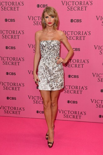 dress prom dress short dress taylor swift sparkly victoria's secret shoes