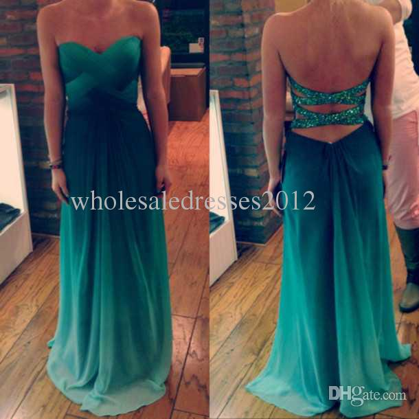 Cheap 2014 Prom Dress - Discount 2014 Prom Dresses Beautiful Cheap Party Fashion Sweetheart Sequins Beaded Back Colorful Green Maxi Long Dress a Line Long Dresses Online with $81.26/Piece | DHgate