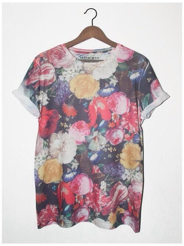 t-shirt flowers shirt