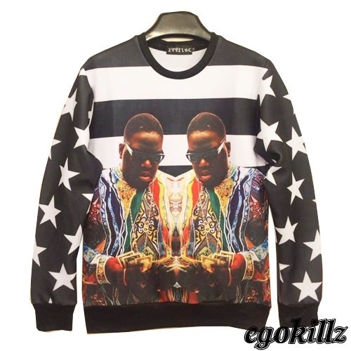 Aliexpress.com : Buy Free Shipping 2014Foster a flag B.I.G avatar hip hop thin fleece euramerican tide from Reliable tide fabric suppliers on ED FASHION.