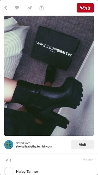 shoes black ankle boot chunky boots chunky heel platform high heels platform chunky heel elastic ankle boot above ankle boot back boot platform boots elastic ankle