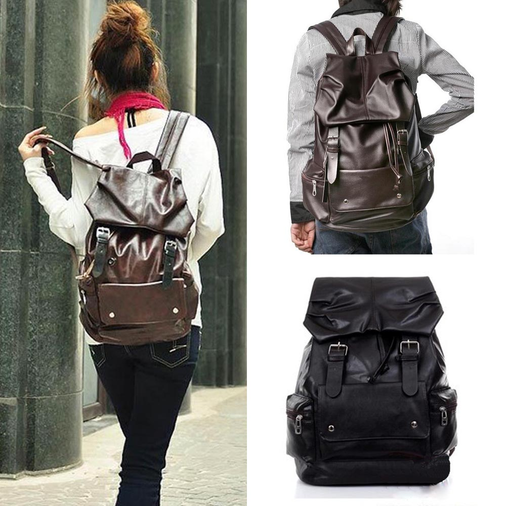 Girls PU Leather Backpack Bookbags Satchel Rucksack Travel ...