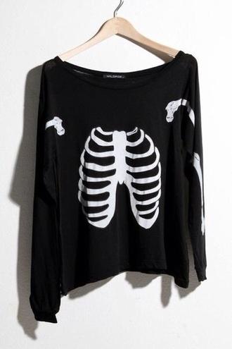 sweater bones t-shirt