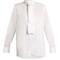 High-neck cotton-herringbone shirt