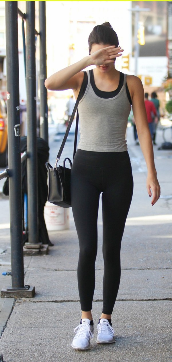 leggings sneakers top kendall jenner shoes