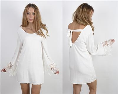 Reverse brand bohemian lace trim dress