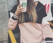 sweater,zip,pink,blue,pockets