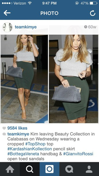 kim kardashian bodycon skirt