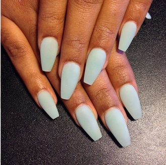 nail polish mint matte jeans