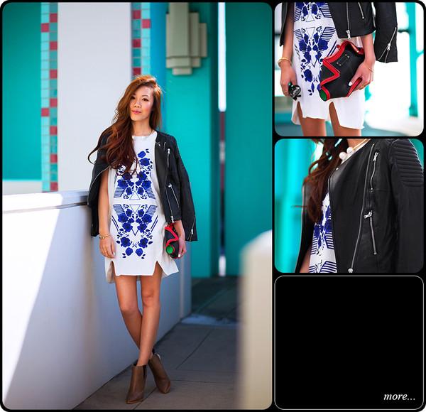 tsangtastic dress jacket shoes bag