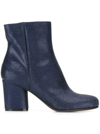 classic boots ankle boots blue shoes