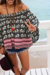 shirt,clothes,t-shirt,blouse,pretty,tribal pattern,print,indian,elephant,red,dark,white,grey,what is this called?,where can i get this pleaseeeee,style,top,off the shoulder,flowy,boho,baggy,chic,pinterest,girl,peasant top,loose,casual,',boho shirt,elephant print