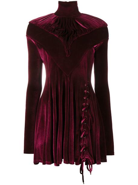 Y / Project dress mini dress mini women spandex cotton purple pink