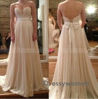 dress prom dress prom party dress bridesmaid wedding party dress wedding bow elegant white evening dress maxi dress fashion white dress