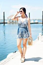 whatever is lovely – a houston life and style blog by lynne gabriel,blogger,romper,shoes,sunglasses,bag,jewels