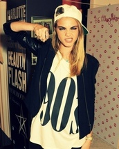 shirt,90´s,vintage,model,white,cara delevingne,jacket,t-shirt,90s style,leather jacket,black jacket