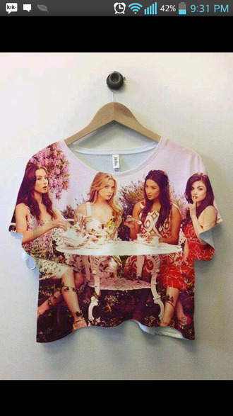 blouse shirt pretty little liars cute flowy ashley benson