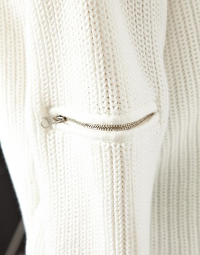 ASOS | ASOS Sweater With Zip Sleeve Detail at ASOS