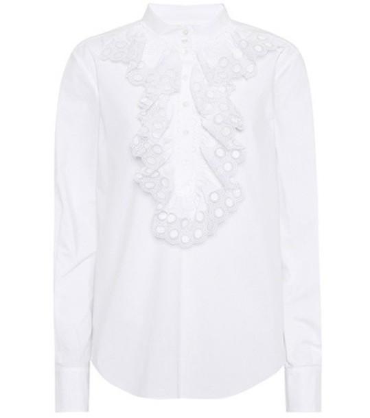 Chloe shirt cotton white top