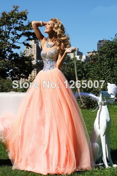 Aliexpress.com : Buy Elegant Sweetheart Heavy Beaded Tulle A Line Prom Dresses Pargent Fashion Gowns from Reliable gown cover suppliers on SFBridal