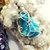 Silver Wire Wrapped Turquoise Gemstone Necklace - Zodiac Birthstone