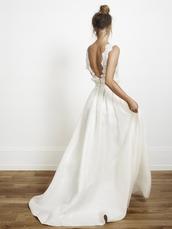 white,dress,maxi dress,lace,wedding dress,clothes,white dress,prom dress,bride dresses,hipster wedding,boho dress,bohemian,deb dress,deb,wedding,formal,backless,formal dress,lace dress