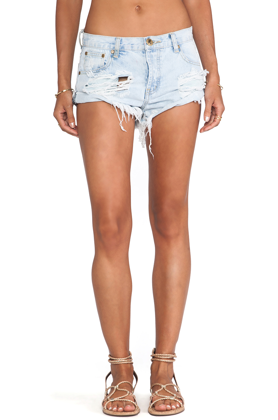 One Teaspoon Bandits Jean Shorts in Brando from REVOLVEclothing.com