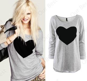 shirt heart summer top girl girly women