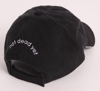 hat mens accessories black hat hat black snapback dope alternative pale baseball baseball cap cap black deag grunge black and white casual casquette urban not dead