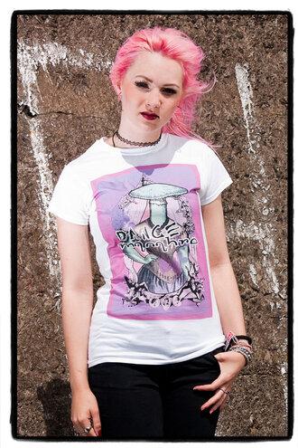 t-shirt pastel goth grunge goth gothic grunge mushroom victorian style pink purple tshirt white t-shirt burlesque