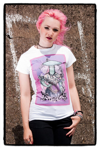 pink t-shirt pastel goth grunge goth goth mushroom victorian style purple tshirt white t-shirt burlesque