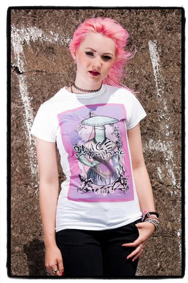 mushroom t-shirt pastel goth grunge goth goth victorian style pink purple tshirt white t-shirt burlesque