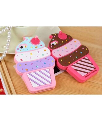 phone cover cute kawaii pink ice cream iphone case teenagers pastel trendy cool it girl shop