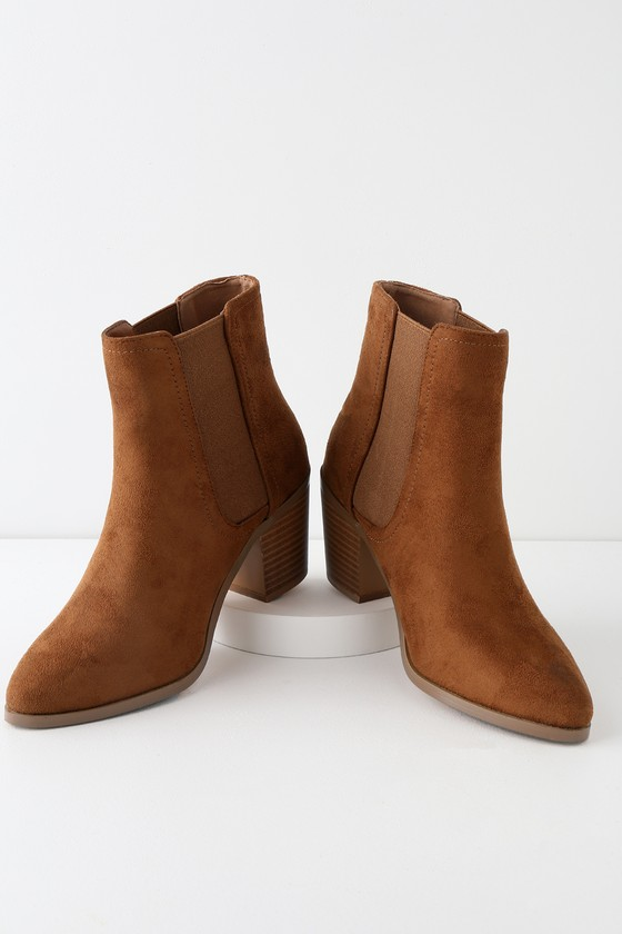 Teddy Tan Suede Ankle Booties