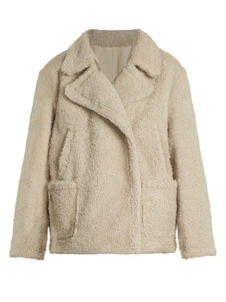 Yves Salomon coat cream