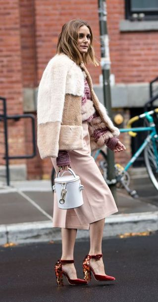 jacket pants sweater pumps olivia palermo blogger streetstyle fall outfits purse bag