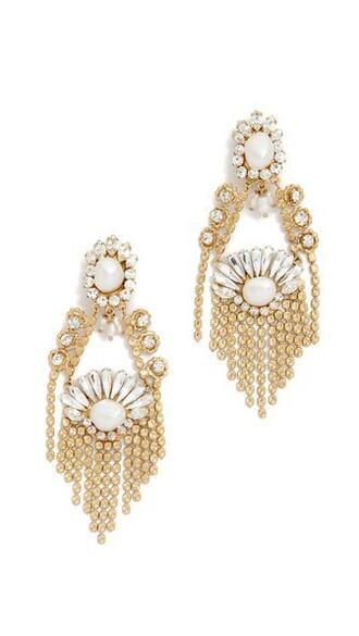 clear earrings gold jewels