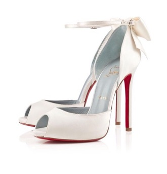 shoes louboutin wedding dress red bottom heels ivory