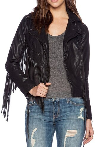 jacket alternative black leather jacket fringes zaful classy grunge