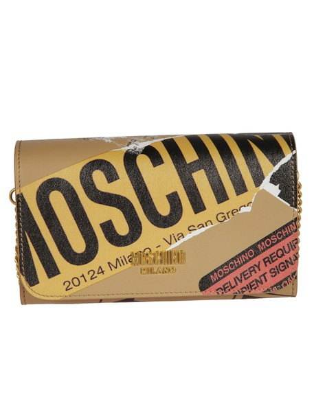 Moschino clutch brown bag